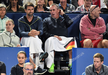 Ivan Lendl watching from the players box