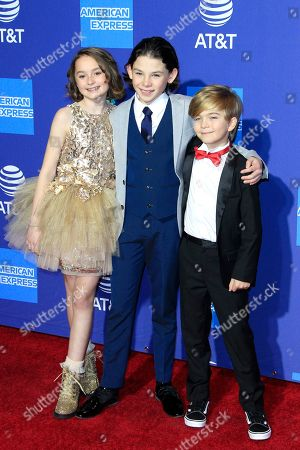 Pixie Davies, Nathanael Saleh, Joel Dawson arrive for the 30th Palm Springs International Film Festival, in Palm Springs, California, USA, 03 January 2019. The PS Film Festival honors actors in eleven categories at its awards gala.