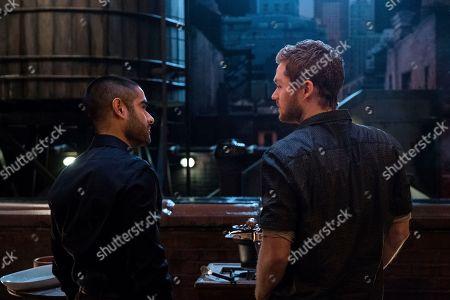 Sacha Dhawan as Davos and Finn Jones as Danny Rand