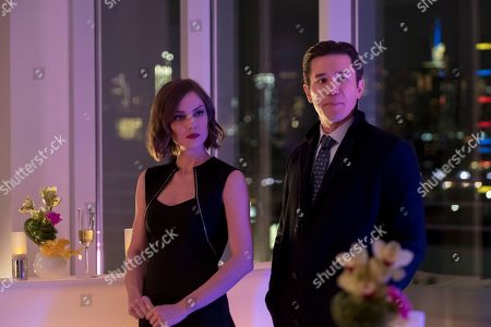 Jessica Stroup as Joy Meachum and Tom Pelphrey as Ward Meachum
