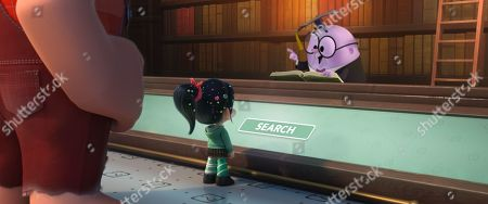 Ralph (John C. Reilly), Vanellope (Sarah Silverman) and KnowsMore (Alan Tudyk)