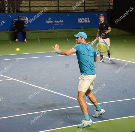 British tennis players Luke Bambridge and Jonny O'Mara