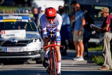 Alex Dowsett (GBr) 29th Alex Dowsett (Great Britain)0:05:24.70. 2018 Word Cycling Championships Mens Elite 52kms individual time trial;  1Rohan Dennis (Australia)1:03:45.53  2Tom Dumoulin (Netherlands)0:01:21.09  3Victor Campenaerts (Belgium)0:01:21.62  4Michal Kwiatkowski (Poland)0:02:04.58  5Nelson Oliveira (Portugal)0:02:14.34  6Jonathan Castroviejo (Spain)0:02:17.53  7Tony Martin (Germany)0:02:25.23