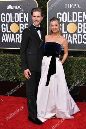 Stock Picture of Karl Cook and Kaley Cuoco