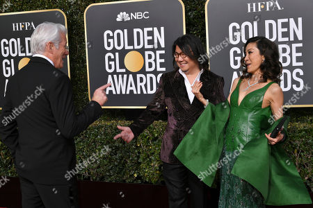 Richard Gere, Kevin Kwan and Michelle Yeoh