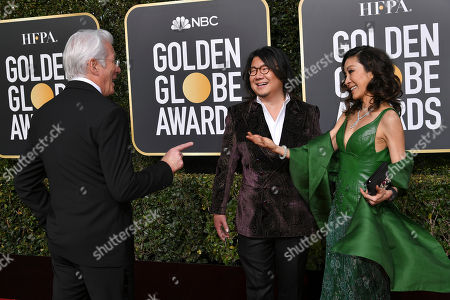 Stock Image of Richard Gere, Kevin Kwan and Michelle Yeoh