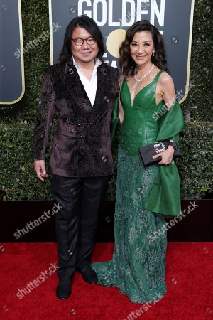 Stock Picture of Kevin Kwan and Michelle Yeoh