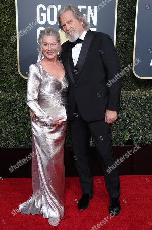 Stock Image of Susan Bridges and Jeff Bridges
