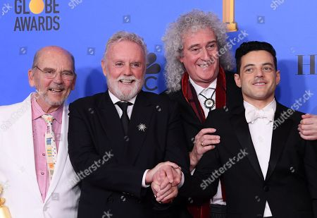 Jim Beach, Roger Taylor, Brian May and Rami Malek - Best Motion Picture, Drama - 'Bohemian Rhapsody'