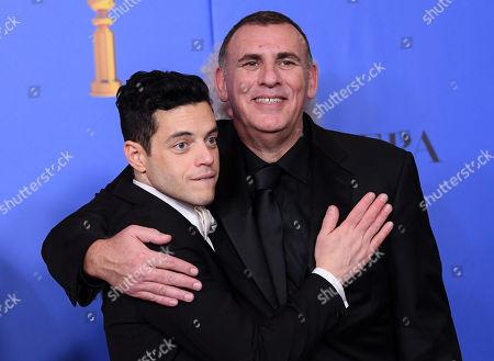 Rami Malek and Graham King - Best Motion Picture, Drama - 'Bohemian Rhapsody'