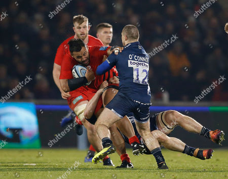 Editorial photo of Sale Sharks v Saracens, Rugby Union, Gallagher Premiership, AJ Bell Stadium, Eccles, Greater Manchester, UK - 04/01/2019