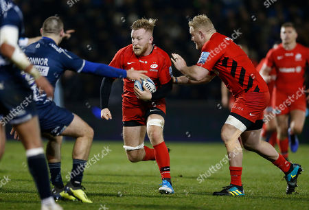 Editorial image of Sale Sharks v Saracens, Rugby Union, Gallagher Premiership, AJ Bell Stadium, Eccles, Greater Manchester, UK - 04/01/2019