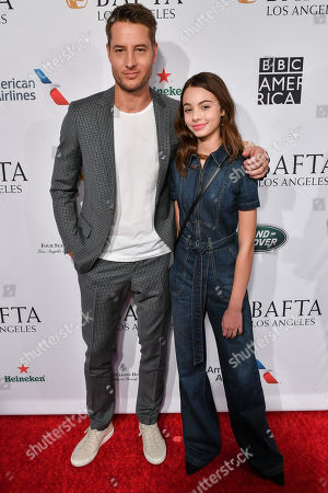 Stock Picture of Justin Hartley and Isabella Justice Hartley