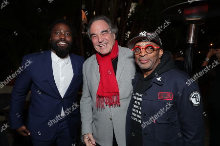 John David Washington, Oliver Stone and Writer/Producer/Director Spike Lee