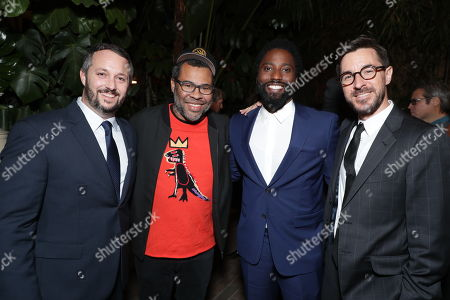 Producer Sean McKittrick, Producer Jordan Peele, John David Washington and Producer Raymond Mansfield