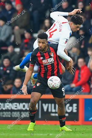 Leon Balogun of Brighton and Hove Albion climbs over Lys Mousset of AFC Bournemouth during AFC Bournemouth vs Brighton & Hove Albion, Emirates FA Cup Football at the Vitality Stadium on 5th January 2019