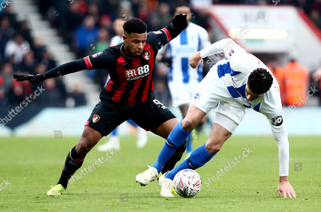 Leon Balogun of Brighton & Hove Albion and Lys Mousset of Bournemouth.