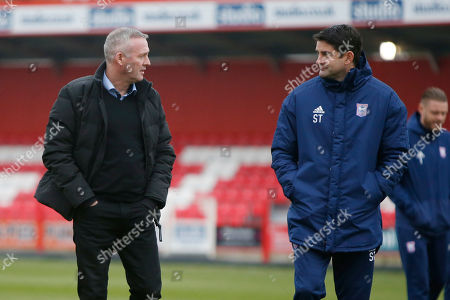 Ipswich Town Manager Paul Lambert and Assistant Manager Stuart Taylor during the The FA Cup 3rd round match between Accrington Stanley and Ipswich Town at the Fraser Eagle Stadium, Accrington