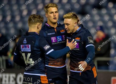 Edinburgh vs Isuzu Southern Kings. Edinburgh's Dougie Fife celebrates his try