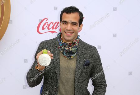 Danell Leyva arrives at the '6th Annual Gold Meets Golden', in West Hollywood, Calif
