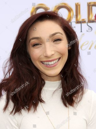 Meryl Davis arrives at the '6th Annual Gold Meets Golden', in West Hollywood, Calif