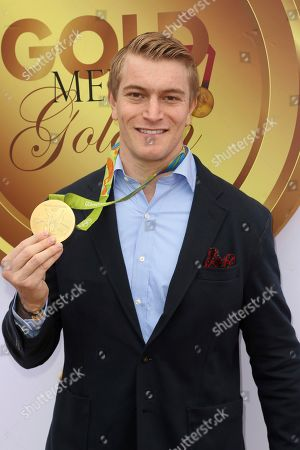 Connor Fields arrives at the '6th Annual Gold Meets Golden', in West Hollywood, Calif