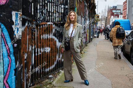 Editorial photo of Street Style, Fall Winter 2019, London Fashion Week Men's, UK - 05 Jan 2019