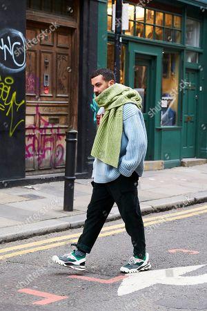 Editorial image of Street Style, Fall Winter 2019, London Fashion Week Men's, UK - 05 Jan 2019
