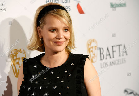Joanna Kulig poses at the 2019 BAFTA Tea Party at the Four Seasons Hotel, in Los Angeles