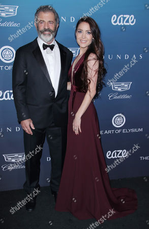 Stock Image of Mel Gibson and Rosalind Ross