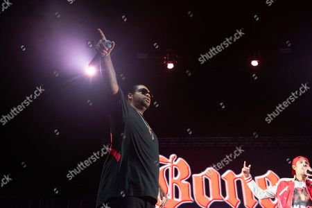 Wish Bone of Bones Thugs-n-Harmony performs onstage at State Farm Arena, in Atlanta