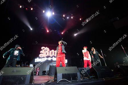 Wish Bone, Layzie Bone, Krayzie Bone, Flesh-n-Bone. Bones Thugs-n-Harmony performs onstage at State Farm Arena, in Atlanta