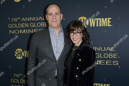 David Nevins, Andrea Nevins. David Nevins, left, and Andrea Nevins attend the 2019 Showtime Golden Globe Nominees Celebration at Sunset Tower Hotel, in West Hollywood, Calif