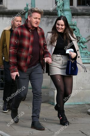 Gordon Ramsay and Holly Ramsay leaving
