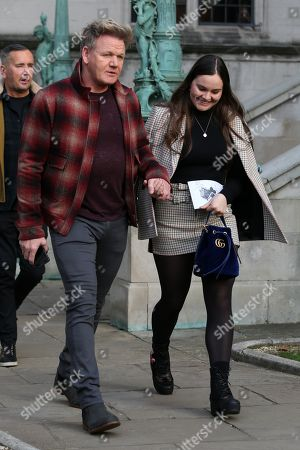 Stock Picture of Gordon Ramsay and Holly Ramsay leaving