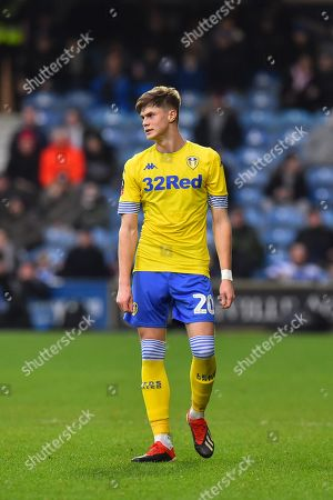 Tom Pearce (20) of Leeds United during the The FA Cup 3rd round match between Queens Park Rangers and Leeds United at the Loftus Road Stadium, London