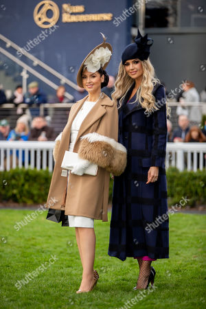 Judge Rosanna Davison with winner of the Lawlors of Naas Grade 1 novice hurdle and Winter Ladies Day, Suzanne Gallagher from Sligo