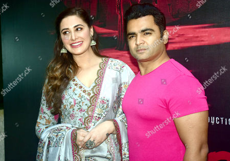 Stock Photo of Nargis Fakhri with Sachiin Joshi