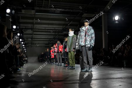 A model presents a creation by British designer Christopher Raeburn during London Fashion Week Men's, in London, Britain, 06 January 2019. The LFWM runs from 05 to 07 January.