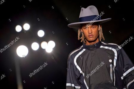 A model presents a creation by Astrid Andersen during London Fashion Week Men's, in London, Britain, 06 January 2019. The LFWM runs from 05 to 07 January.