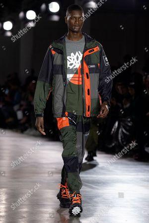 Editorial photo of Christopher Raeburn - Runway - London Fashion Week Men's 2019, United Kingdom - 06 Jan 2019