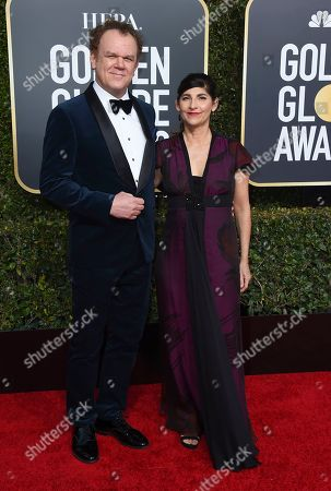 John C. Reilly, Alison Dickey. John C. Reilly, left, and Alison Dickey arrive at the 76th annual Golden Globe Awards at the Beverly Hilton Hotel, in Beverly Hills, Calif