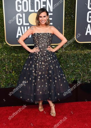 Keltie Knight arrives at the 76th annual Golden Globe Awards at the Beverly Hilton Hotel, in Beverly Hills, Calif