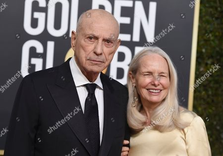Stock Photo of Alan Arkin, Suzanne Newlander Arkin. Alan Arkin, left, and Suzanne Newlander Arkin arrive at the 76th annual Golden Globe Awards at the Beverly Hilton Hotel, in Beverly Hills, Calif