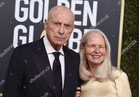 Alan Arkin, Suzanne Newlander Arkin. Alan Arkin, left, and Suzanne Newlander Arkin arrive at the 76th annual Golden Globe Awards at the Beverly Hilton Hotel, in Beverly Hills, Calif