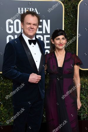 John C Reilly, Alison Dickey. John C Reilly, left, and Alison Dickey arrive at the 76th annual Golden Globe Awards at the Beverly Hilton Hotel, in Beverly Hills, Calif