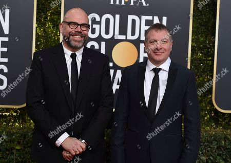 Simon Heath, Jed Mercurio. Simon Heath, left, and Jed Mercurio arrive at the 76th annual Golden Globe Awards at the Beverly Hilton Hotel, in Beverly Hills, Calif