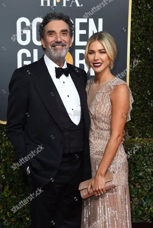 Chuck Lorre, Arielle Mandelson. Chuck Lorre, left, and Arielle Mandelson arrive at the 76th annual Golden Globe Awards at the Beverly Hilton Hotel, in Beverly Hills, Calif