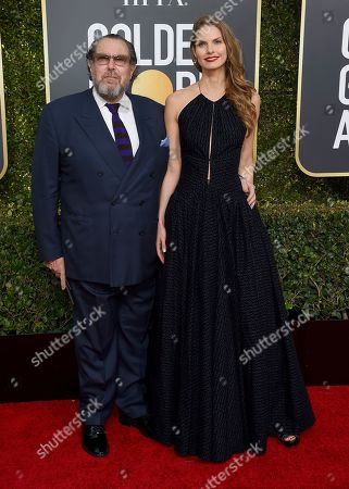 Julian Schnabel, Louise Kugelberg. Julian Schnabel, left, and Louise Kugelberg arrive at the 76th annual Golden Globe Awards at the Beverly Hilton Hotel, in Beverly Hills, Calif