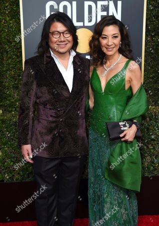 Kevin Kwan, Michelle Yeoh. Kevin Kwan, left, and Michelle Yeoh arrive at the 76th annual Golden Globe Awards at the Beverly Hilton Hotel, in Beverly Hills, Calif
